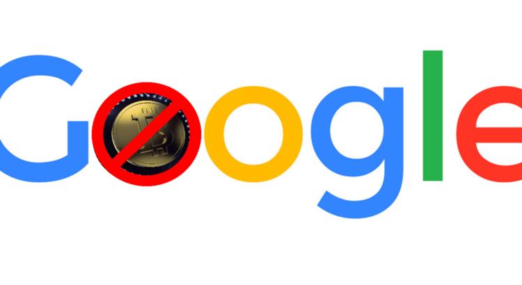 Google запретил рекламу криптовалют